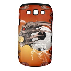 Soccer With Skull And Fire And Water Splash Samsung Galaxy S Iii Classic Hardshell Case (pc+silicone)