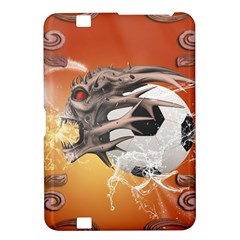 Soccer With Skull And Fire And Water Splash Kindle Fire HD 8.9