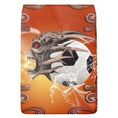 Soccer With Skull And Fire And Water Splash Flap Covers (S)