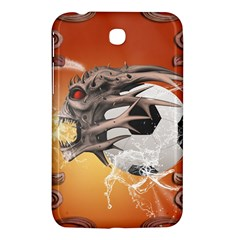 Soccer With Skull And Fire And Water Splash Samsung Galaxy Tab 3 (7 ) P3200 Hardshell Case