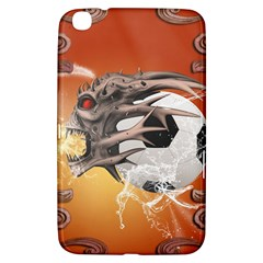 Soccer With Skull And Fire And Water Splash Samsung Galaxy Tab 3 (8 ) T3100 Hardshell Case