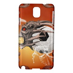 Soccer With Skull And Fire And Water Splash Samsung Galaxy Note 3 N9005 Hardshell Case