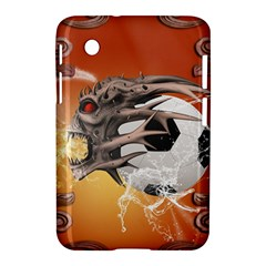 Soccer With Skull And Fire And Water Splash Samsung Galaxy Tab 2 (7 ) P3100 Hardshell Case