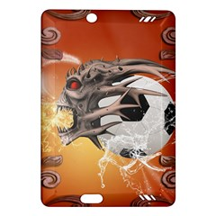 Soccer With Skull And Fire And Water Splash Kindle Fire HD (2013) Hardshell Case