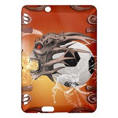 Soccer With Skull And Fire And Water Splash Kindle Fire Hdx Hardshell Case
