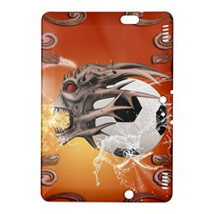 Soccer With Skull And Fire And Water Splash Kindle Fire HDX 8.9  Hardshell Case