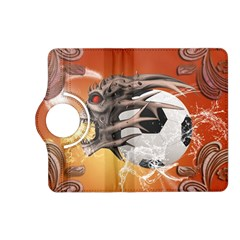 Soccer With Skull And Fire And Water Splash Kindle Fire HD (2013) Flip 360 Case