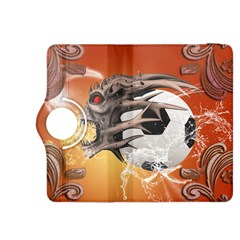 Soccer With Skull And Fire And Water Splash Kindle Fire HDX 8.9  Flip 360 Case