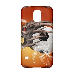 Soccer With Skull And Fire And Water Splash Samsung Galaxy S5 Hardshell Case