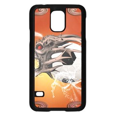 Soccer With Skull And Fire And Water Splash Samsung Galaxy S5 Case (Black)