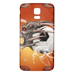 Soccer With Skull And Fire And Water Splash Samsung Galaxy S5 Back Case (White)