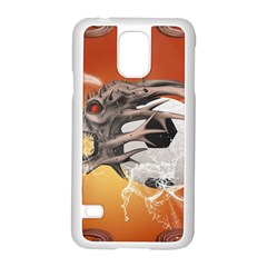 Soccer With Skull And Fire And Water Splash Samsung Galaxy S5 Case (white)