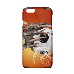 Soccer With Skull And Fire And Water Splash Apple Iphone 6/6s Hardshell Case