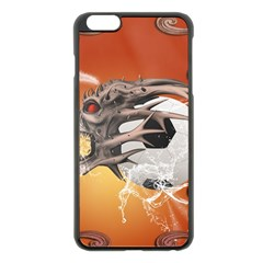 Soccer With Skull And Fire And Water Splash Apple Iphone 6 Plus/6s Plus Black Enamel Case