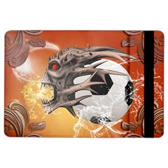 Soccer With Skull And Fire And Water Splash Ipad Air 2 Flip
