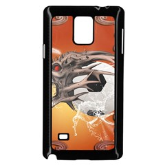 Soccer With Skull And Fire And Water Splash Samsung Galaxy Note 4 Case (black)
