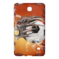 Soccer With Skull And Fire And Water Splash Samsung Galaxy Tab 4 (8 ) Hardshell Case