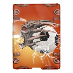 Soccer With Skull And Fire And Water Splash Samsung Galaxy Tab S (10.5 ) Hardshell Case