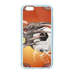 Soccer With Skull And Fire And Water Splash Apple Seamless iPhone 6/6S Case (Color)