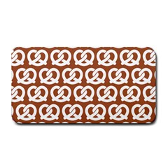 Brown Pretzel Illustrations Pattern Medium Bar Mats