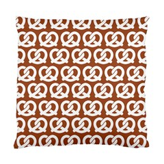 Brown Pretzel Illustrations Pattern Standard Cushion Cases (Two Sides)