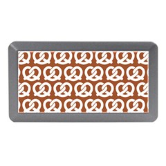 Brown Pretzel Illustrations Pattern Memory Card Reader (Mini)