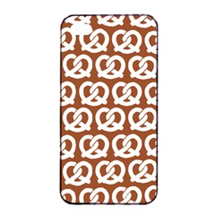 Brown Pretzel Illustrations Pattern Apple Iphone 4/4s Seamless Case (black)