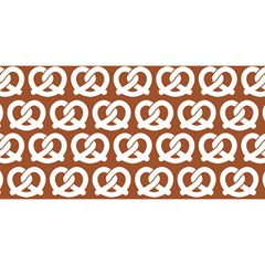 Brown Pretzel Illustrations Pattern YOU ARE INVITED 3D Greeting Card (8x4)