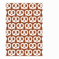 Brown Pretzel Illustrations Pattern Small Garden Flag (Two Sides)