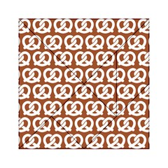 Brown Pretzel Illustrations Pattern Acrylic Tangram Puzzle (6  x 6 )