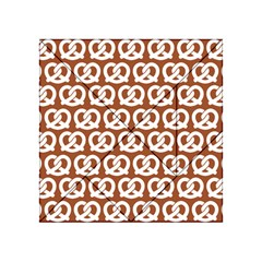 Brown Pretzel Illustrations Pattern Acrylic Tangram Puzzle (4  x 4 )