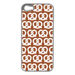 Brown Pretzel Illustrations Pattern Apple iPhone 5 Case (Silver)