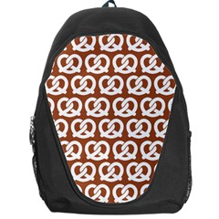 Brown Pretzel Illustrations Pattern Backpack Bag