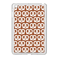 Brown Pretzel Illustrations Pattern Apple iPad Mini Case (White)