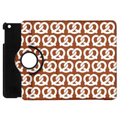 Brown Pretzel Illustrations Pattern Apple iPad Mini Flip 360 Case