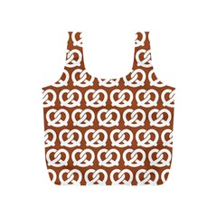 Brown Pretzel Illustrations Pattern Full Print Recycle Bags (S)