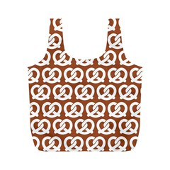 Brown Pretzel Illustrations Pattern Full Print Recycle Bags (M)