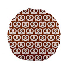 Brown Pretzel Illustrations Pattern Standard 15  Premium Flano Round Cushions
