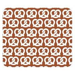 Brown Pretzel Illustrations Pattern Double Sided Flano Blanket (Small)