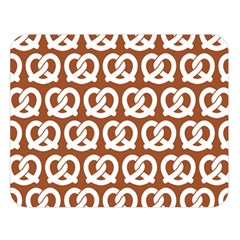Brown Pretzel Illustrations Pattern Double Sided Flano Blanket (large)