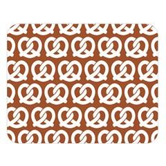 Brown Pretzel Illustrations Pattern Double Sided Flano Blanket (Large)