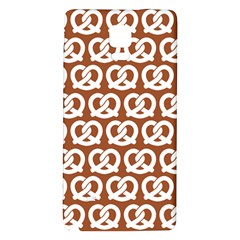Brown Pretzel Illustrations Pattern Galaxy Note 4 Back Case