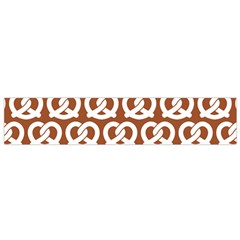 Brown Pretzel Illustrations Pattern Flano Scarf (Small)