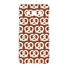 Brown Pretzel Illustrations Pattern Samsung Galaxy A5 Hardshell Case