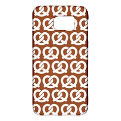 Brown Pretzel Illustrations Pattern Galaxy S6