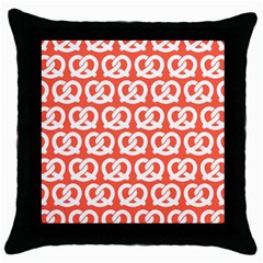 Coral Pretzel Illustrations Pattern Throw Pillow Cases (Black)