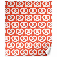 Coral Pretzel Illustrations Pattern Canvas 20  x 24