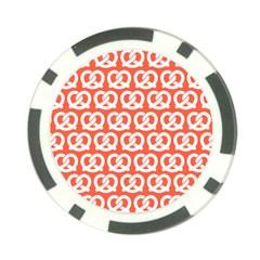 Coral Pretzel Illustrations Pattern Poker Chip Card Guards