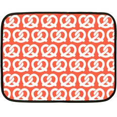Coral Pretzel Illustrations Pattern Double Sided Fleece Blanket (mini)