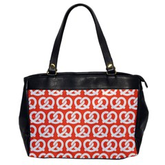 Coral Pretzel Illustrations Pattern Office Handbags